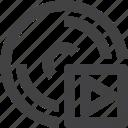 disc, disk, media, storage icon