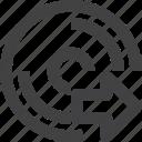disc, disk, next, storage icon