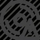 disc, disk, storage, warning icon