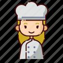 avatar, baker, blonde, diversity, girl, people, profession