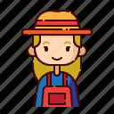 avatar, blonde, diversity, farmer, girl, people, profession