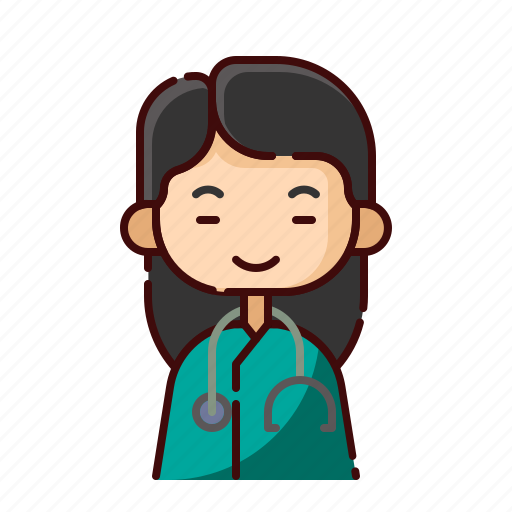 avatar, chinese, diversity, doctor, girl, people, profession icon