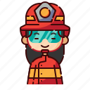 avatar, chinese, diversity, firefighter, girl, people, profession