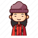 avatar, chinese, diversity, girl, lumberjack, people, profession icon