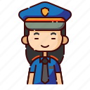avatar, chinese, diversity, girl, people, police, profession icon