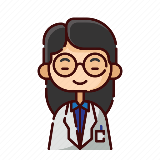 avatar, chinese, diversity, girl, people, profession, professor icon