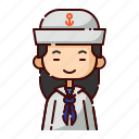 avatar, chinese, diversity, girl, people, profession, sailor
