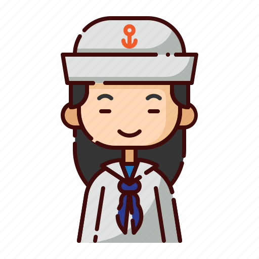 avatar, chinese, diversity, girl, people, profession, sailor icon