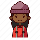 african, avatar, diversity, girl, lumberjack, people, profession