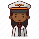 african, avatar, diversity, girl, people, pilot, profession icon