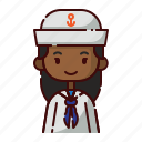 african, avatar, diversity, girl, people, profession, sailor icon