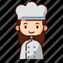 avatar, baker, diversity, female, girl, people, profession icon