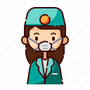 avatar, dentist, diversity, female, girl, people, profession icon