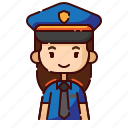 avatar, diversity, female, girl, people, police, profession icon