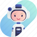 astronaut, avatar, blonde, diversity, girl, people, profession icon