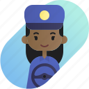 african, avatar, diversity, driver, girl, people, profession icon