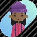 african, avatar, diversity, girl, lumberjack, people, profession icon