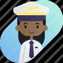 african, avatar, diversity, girl, people, pilot, profession icon