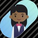 african, avatar, diversity, girl, people, profession, waitress icon