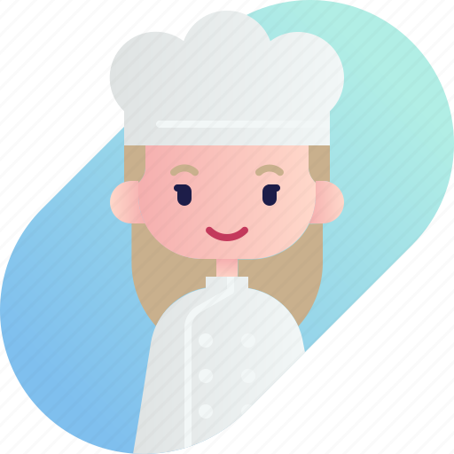 avatar, baker, blonde, diversity, girl, people, profession icon