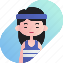 athlete, avatar, chinese, diversity, girl, people, profession icon