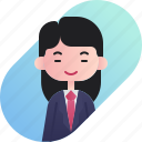 avatar, businessman, chinese, diversity, girl, people, profession icon