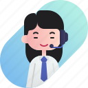 avatar, call center, chinese, diversity, girl, people, profession