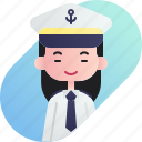 avatar, captain, chinese, diversity, girl, people, profession icon