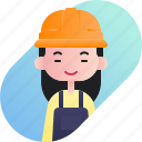 avatar, chinese, diversity, engineer, girl, people, profession icon
