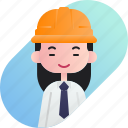 avatar, chinese, diversity, foreman, girl, people, profession icon