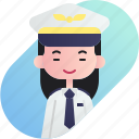 avatar, chinese, diversity, girl, people, pilot, profession icon