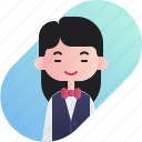 avatar, chinese, diversity, girl, people, profession, waitress icon