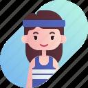 athlete, avatar, diversity, female, girl, people, profession icon