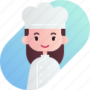 avatar, baker, diversity, female, girl, people, profession icon