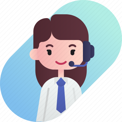 avatar, call center, diversity, female, girl, people, profession icon