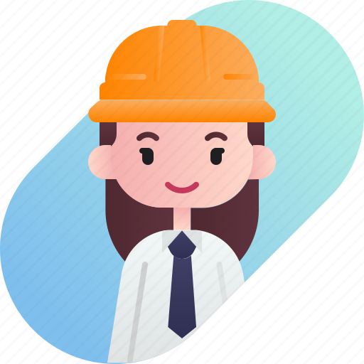 avatar, diversity, female, foreman, girl, people, profession icon