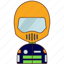 racer, biker, motorcyclist, rider, riding, man
