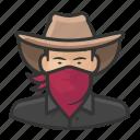 asian, avatar, bandit, bandito, cowboy, male, man, user icon
