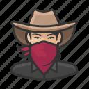 avatar, bandita, bandit, woman, cowgirl, user, asian