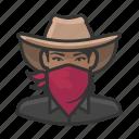 avatar, bandit, bandita, cowgirl, female, user, woman