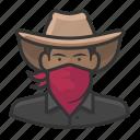 avatar, bandit, cowboy, bandito, user, male