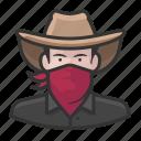 avatar, bandit, cowboy, bandito, user, man, male