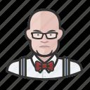 avatar, bartender, hospitality, male, man, user icon