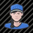 avatar, baseball, braid, female, user, woman