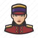asian, avatar, bellhop, female, hospitality, hotel, user icon