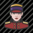 avatar, bellhop, female, hospitality, hotel, user, woman icon