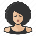 afro, asian, avatar, big hair, female, user