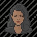 avatar, big hair, female, user, woman icon