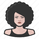 afro, avatar, female, user, woman