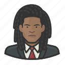 avatar, dreadlock, male, suit, user